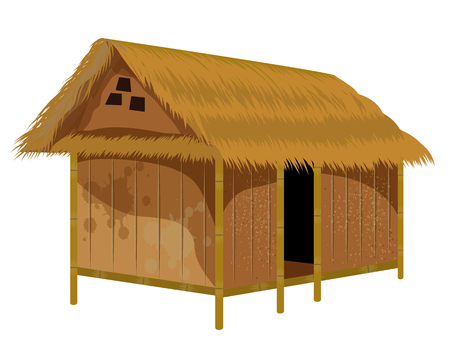 straw hut vector design Zdjęcie Seryjne - 117801288