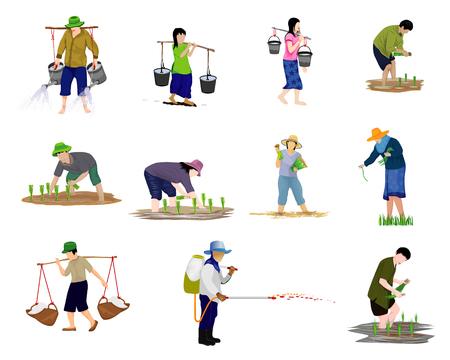 conception de vecteur de forme de dessin animé agriculteur Vecteurs