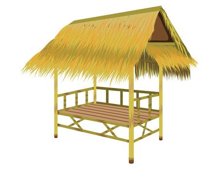 capanna di paglia disegno vettoriale