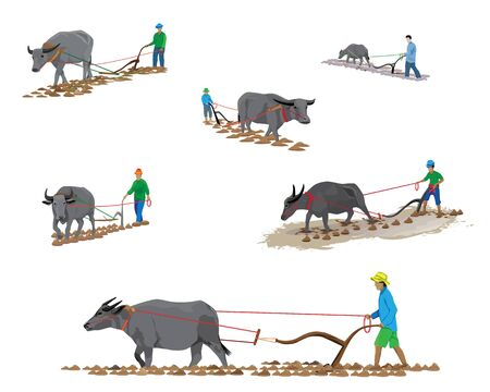 farmer plow vector design Illustration