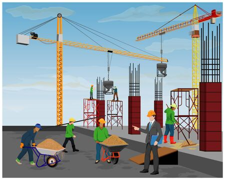 construction work vector design Banque d'images - 131129133