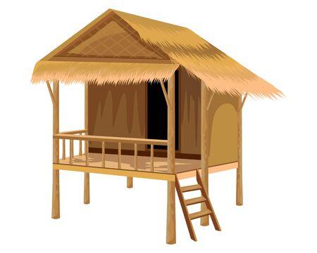 straw hut vector design Vector Illustration