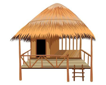 capanna di paglia disegno vettoriale Vettoriali