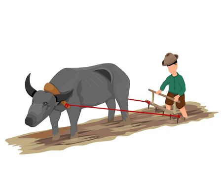 farmer rake vector design