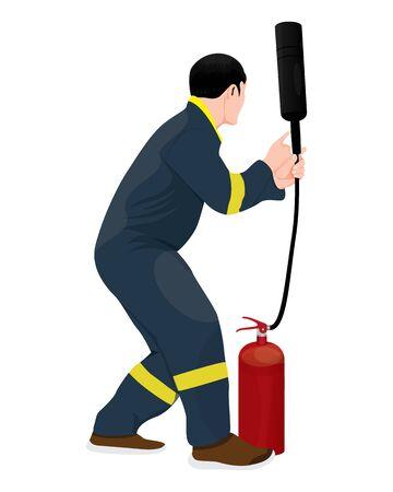 fire man vector design