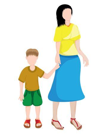 mother and son vector design Standard-Bild - 130554837
