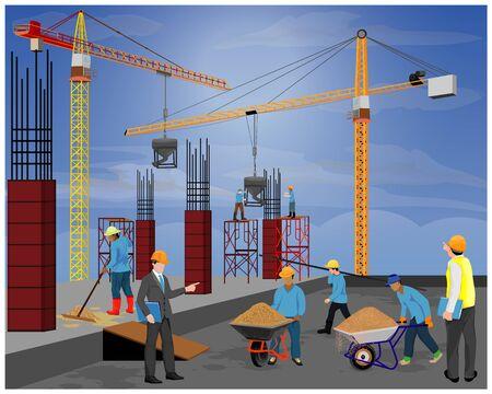 construction work vector design