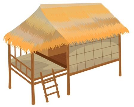 isolated straw hut vector desig