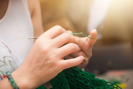 Crochet by hand