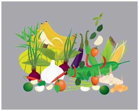 many vegetable vector design
