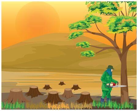 deforestation vector design