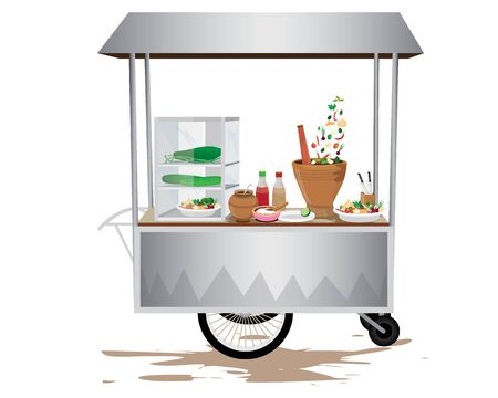 cart with vegetable vector design Illustration