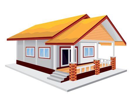 One story house vector design Illusztráció