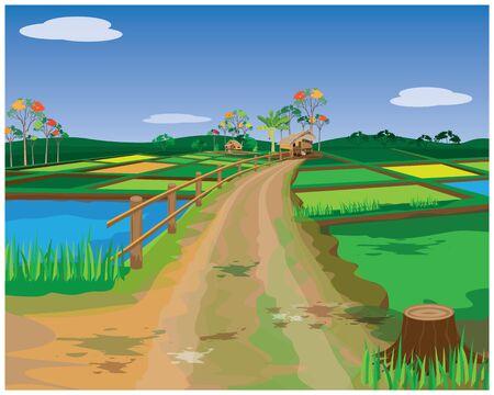 countryside vector design