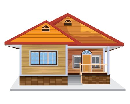 luxury home vector design Illusztráció