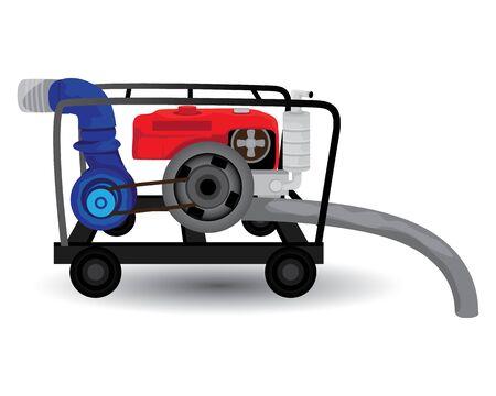 water pump vector design