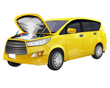 the breakdown car on white background vector design Vetores