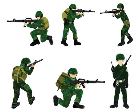 the soldier vector design