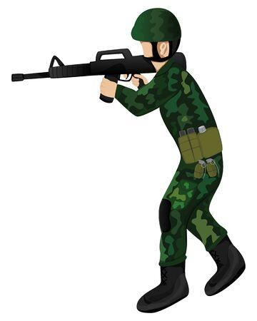 the soldier vector design Vecteurs