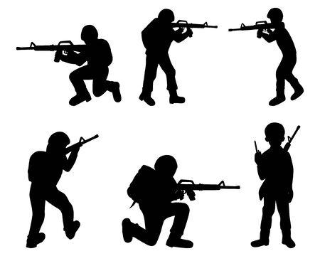 silhouette soldier vector design