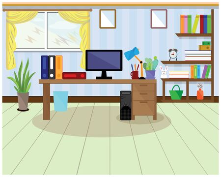 the office in home vector design