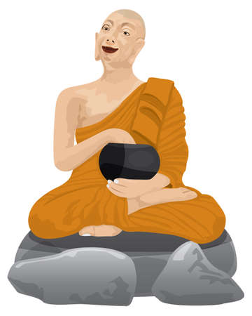 Phra Upakhut monk disciple of the Buddha vector design