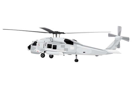 isolated helicopter on white background vector design