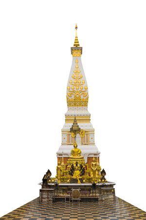 The pagoda at Northeast region of thailand called 'Phra That Pranmom'