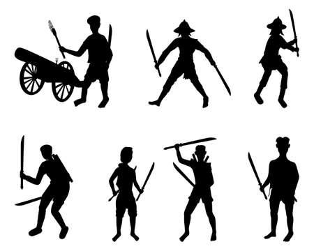 Ancient strong man warrior cartoon shape vector design
