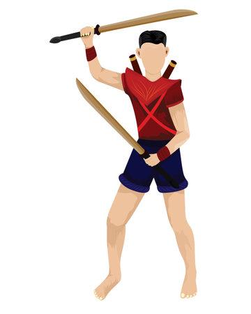 Thai Ancient soldiers vector design Vecteurs