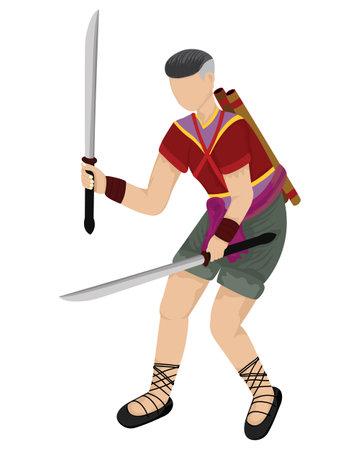 Thai Ancient soldiers vector design