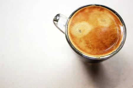 breakfast smiley face: Coffee Smile. Stock Photo