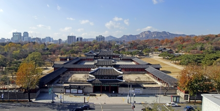 Changgyeonggung Palace  Panorama of  south  Korea The whole view or front view of Changgyeonggung Palace, Republic of Korea