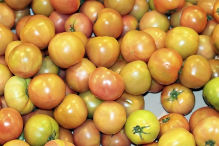 yellow, red,  orange color cherry tomato for sale, Seoul, Korea Stock Photo - 20387363