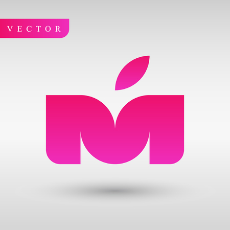 Letter M design vector icon. Illustration