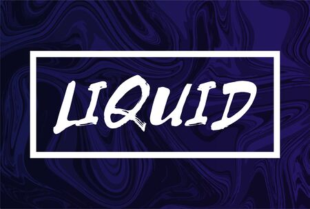 Abstract liquid background with text. Design trendy liquify cover.