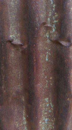 grooved: Rusty in  texture zinc Stock Photo