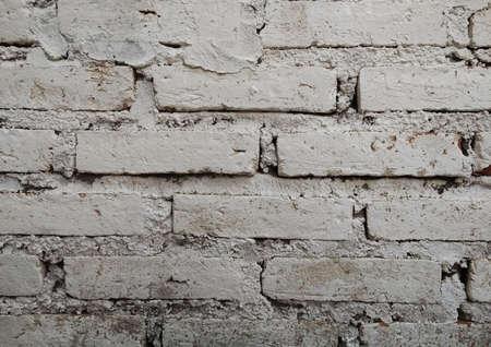 White vintage brick wall background