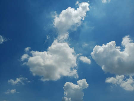 Natural beautiful blue sky and white cloud background,At Afternoon.