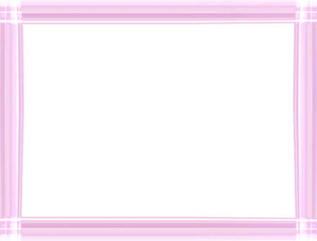 Shiny neon light pink border frame isolated on white background with copy space.Special straight line design. Modern style decorative border-illustration. 版權商用圖片