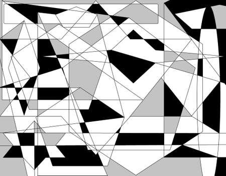 Abstract three tone colorAbstract three tone color pattern of geometric shapes background-illustration