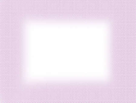 Light pink halftone frame isolated on white background with copy space. Simple design artwork. Modern style decorative border-illustration.