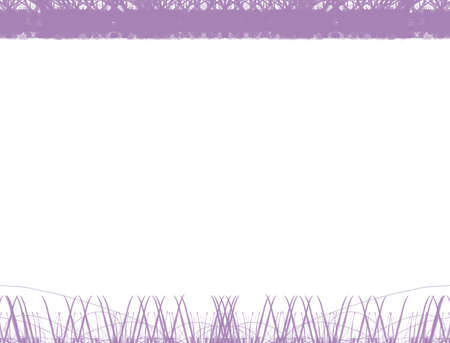 Abstract violet beautiful grass and tree border frame,Art of plant concept. 스톡 콘텐츠