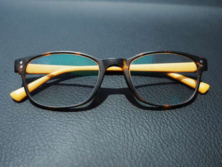 protecting spectacles: Glasses with leather background