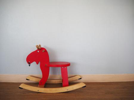 rocking: Red rocking horse Stock Photo
