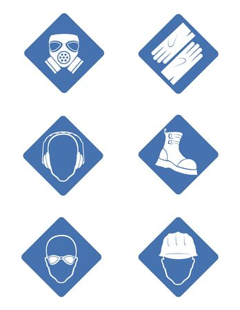 safety goggles: attention signs