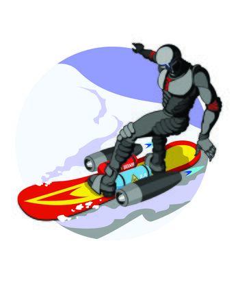 freeride: robot snowboarder