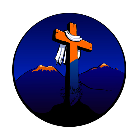 calvary: easter cross Illustration