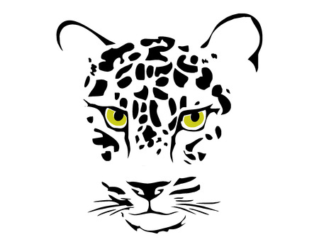 wildcats: jaguar face Illustration