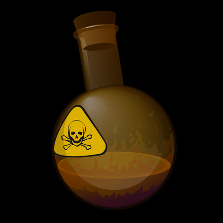 poison: flask with poison agent Illustration